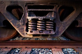 Rusted Train by Peter Adams.