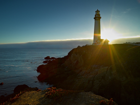Pigeon Point at Sunset by Peter Adams.