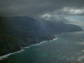 Twilight on Kauai's Napali Coast.