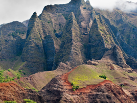 Na Pali Peaks by Copyright Peter Adams. All Rights reserved..