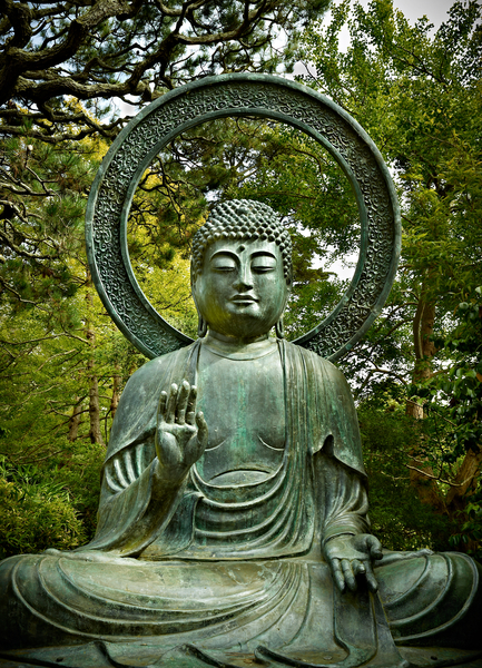 Buddha With Halo by Peter Adams.