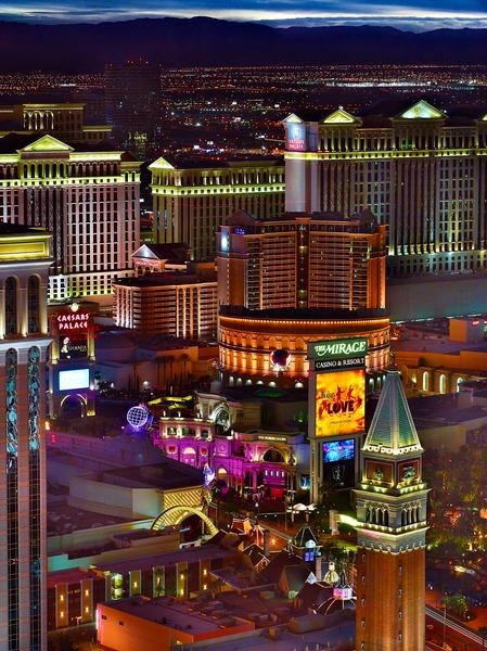 Las Vegas Skyline by Peter Adams.