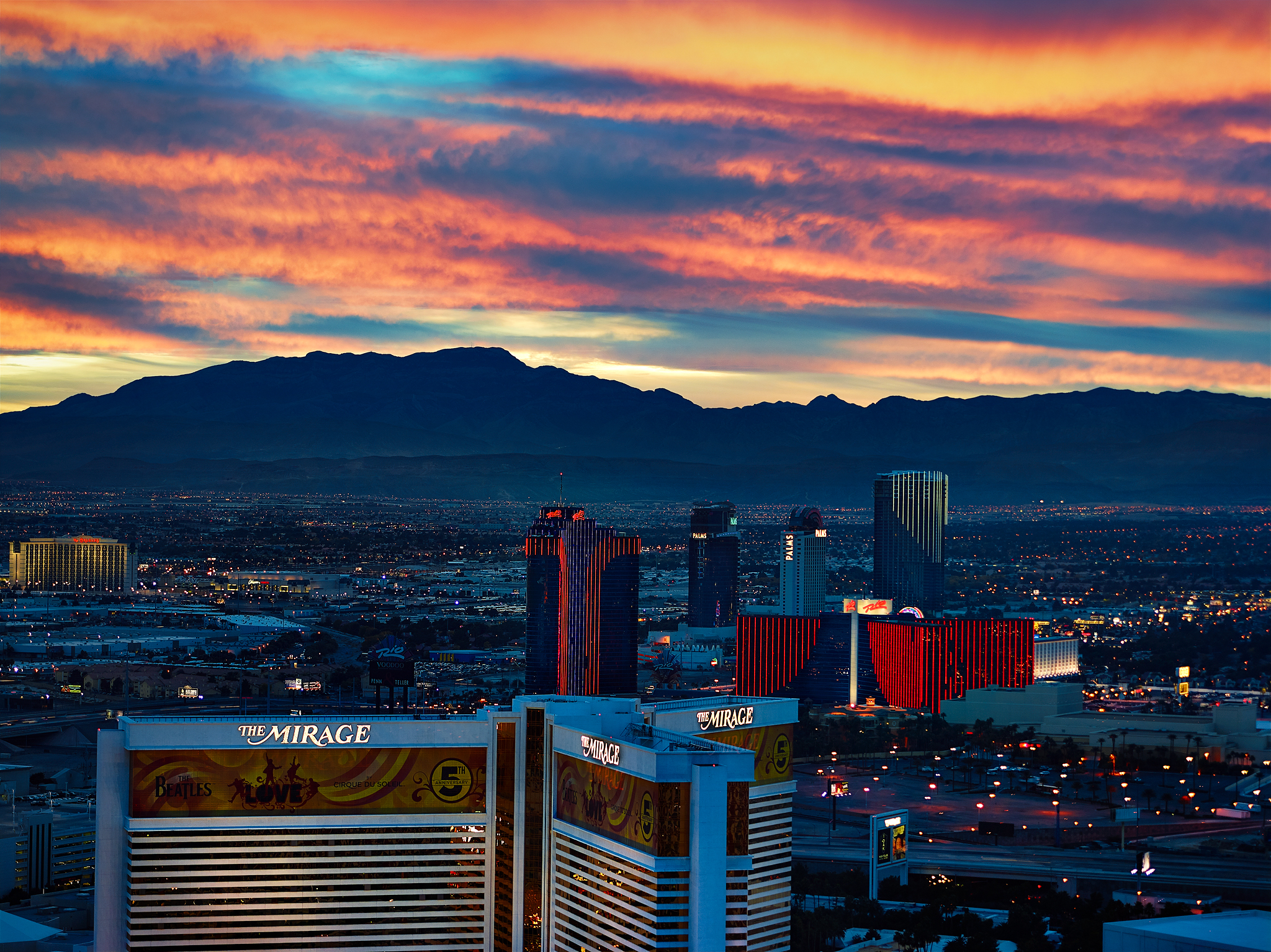Las Vegas Sunset by Copyright Peter Adams. All rights reserved. Photo may not be used or distributed in any way without prior writen approval..