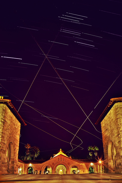 Stanford Star Trails by Peter Adams.