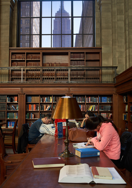 New York Public Library by Peter Adams.