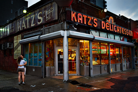 Katz's Delicatessen by Peter Adams.