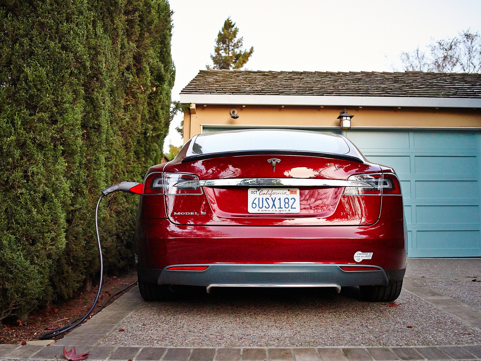 Telsa Model S Charging by Peter Adams.
