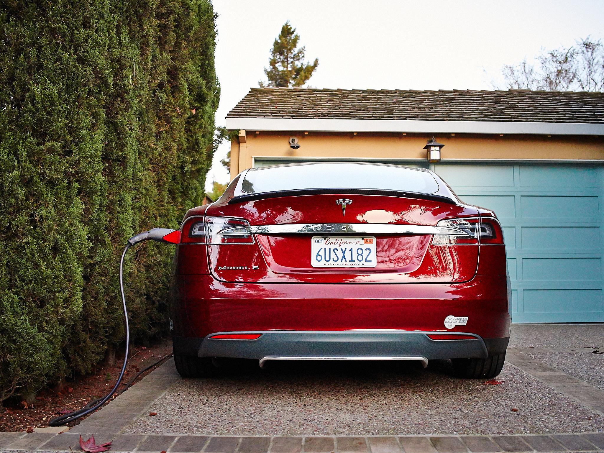 Telsa Model S Charging by Peter Adams.