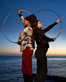 Trippy Chics Hoop Troupe by Peter Adams.