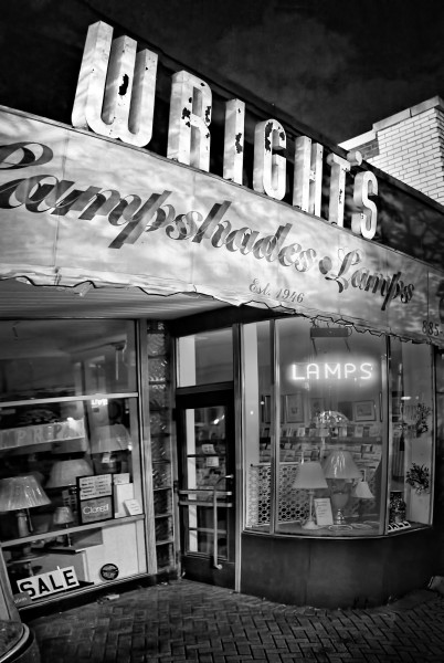 Wright's Gift and Lamp Shop by Peter Adams.
