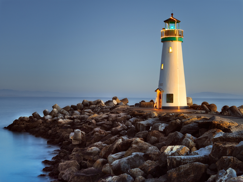Walton Lighthouse by Peter Adams.