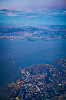 San Mateo-Hayward Bridge by Peter Adams.