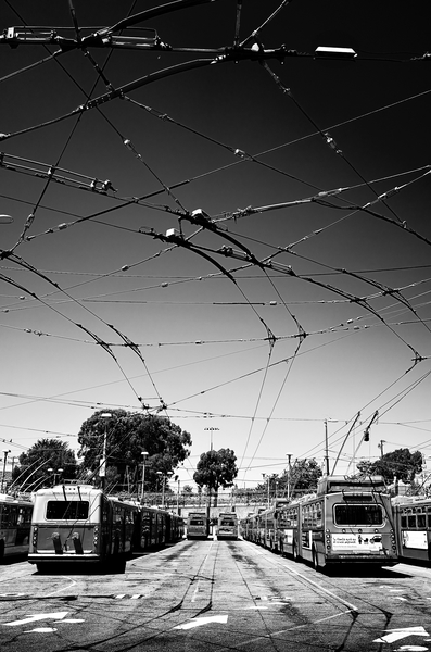 Electric Bus Depot by Peter Adams.