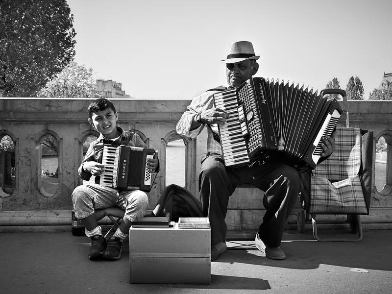 Accordian Players by Peter Adams.
