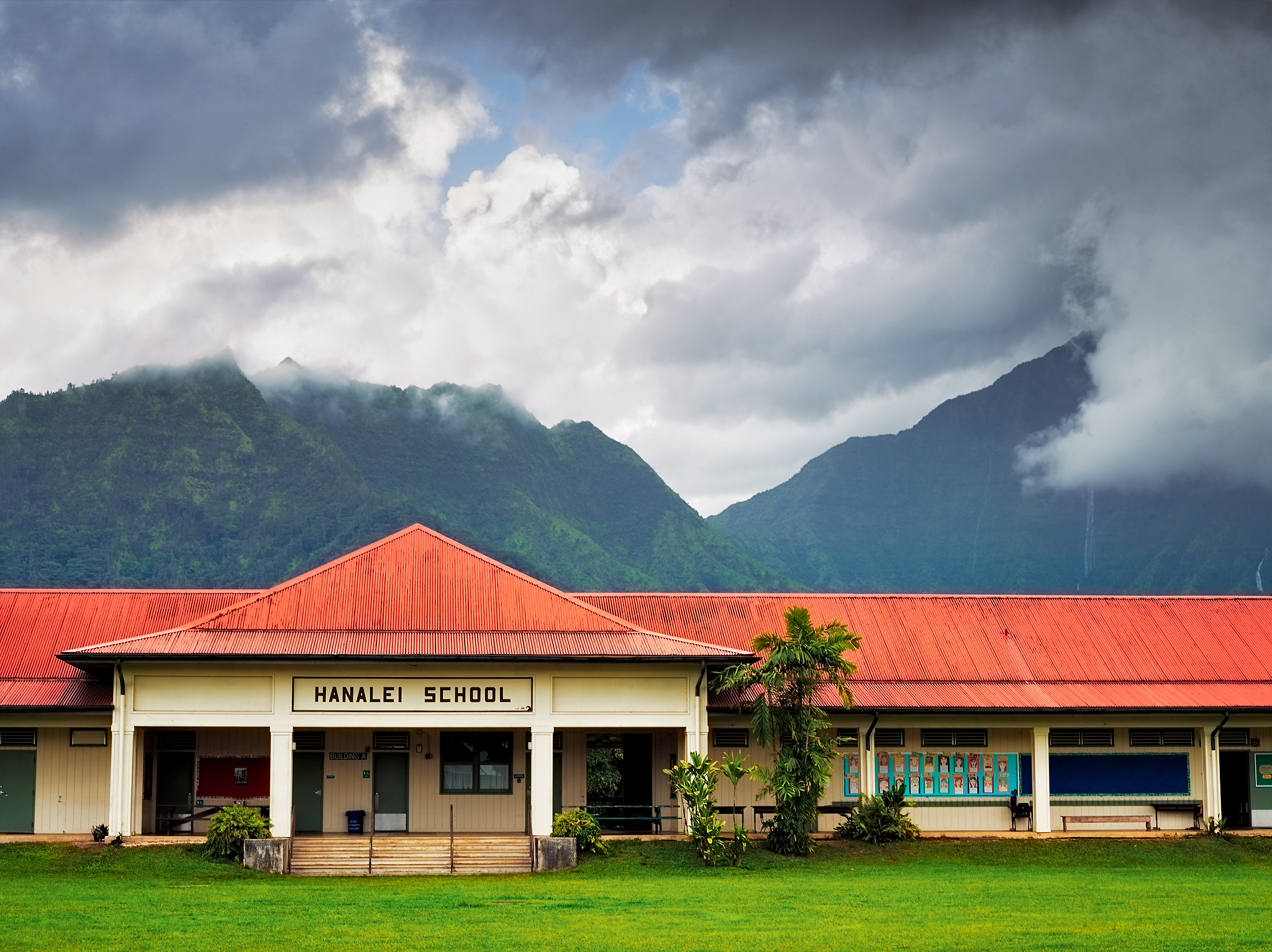 Hanalei School by Peter Adams.