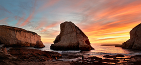 Shark Fin Cove by Peter Adams.