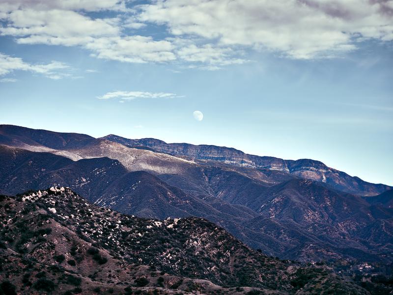 Topa Topa Moonrise by Peter Adams.