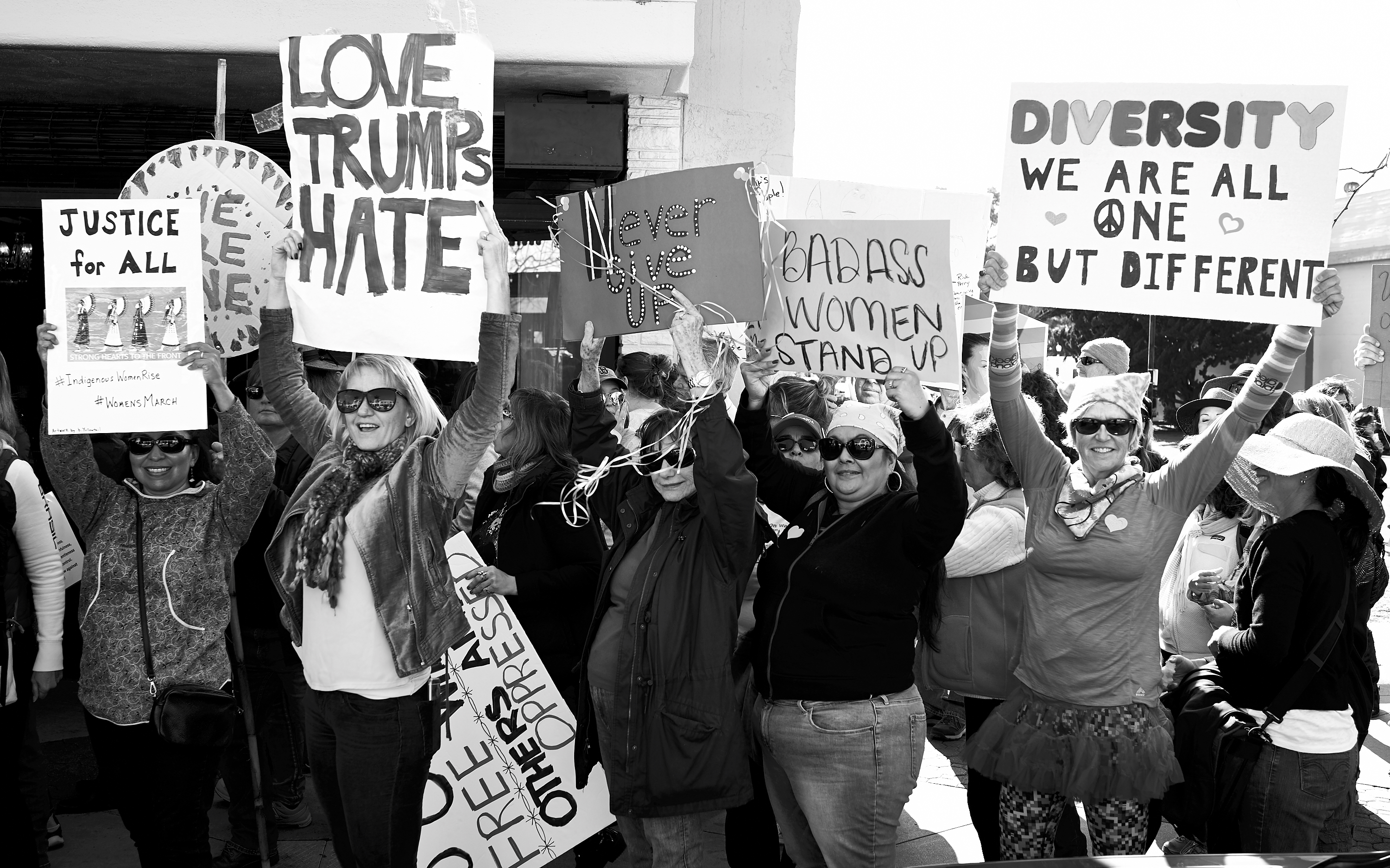 Women's March on Ventura by Peter Adams.