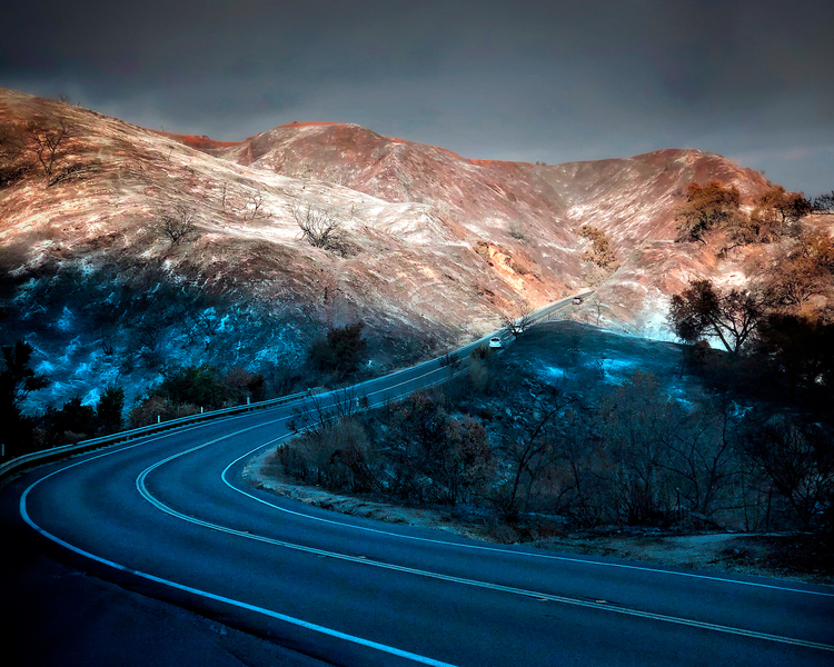 Thomas Fire Roadway by Peter Adams.