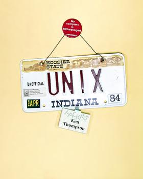 UNIX License Plate by Peter Adams.
