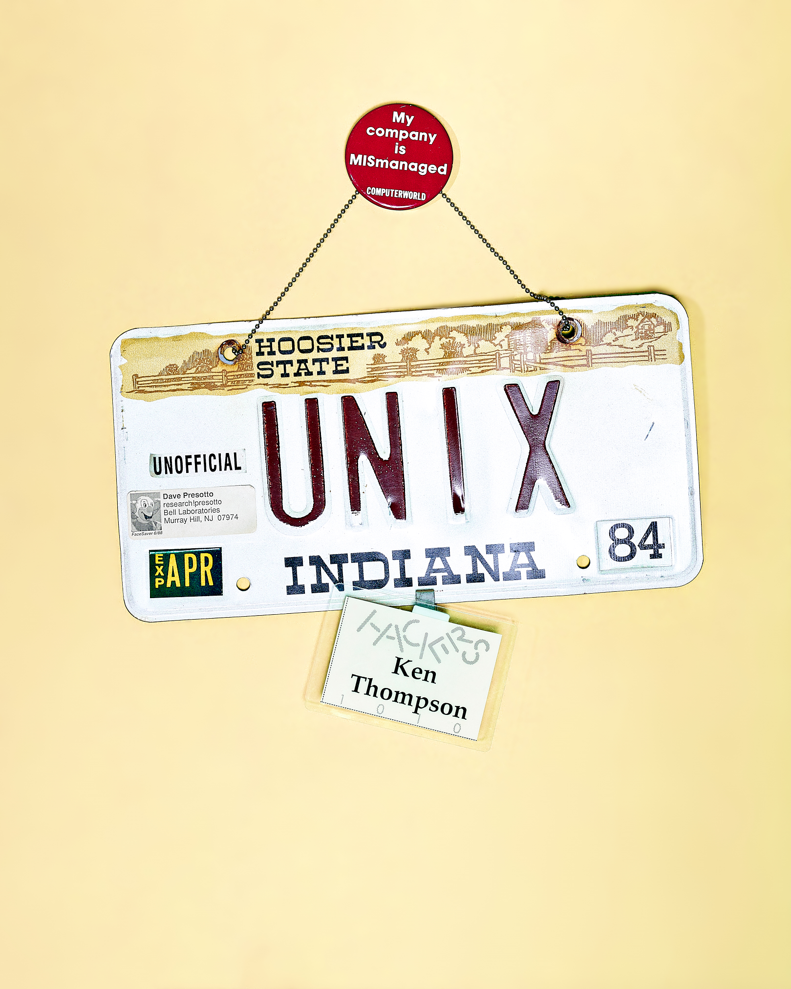 UNIX License Plate by Peter Adams.