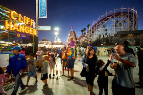 Santa Cruz Beach Boardwalk by Peter Adams Photography.