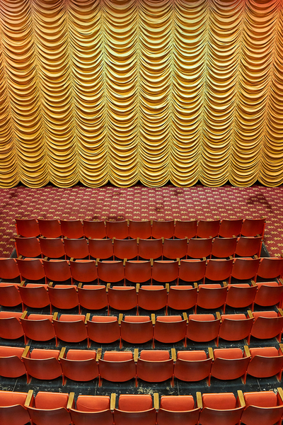 Cinestudio Theater on the campus of Trinity College in Hartford, Connecticut by Peter Adams Photography.