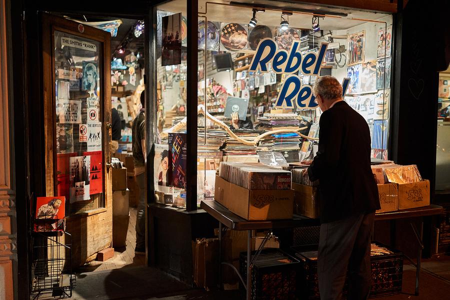 Rebel Rebel Record Store by Peter Adams.