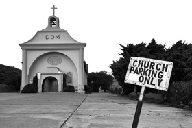 St. Vincent DePaul Church in Davenport, California.