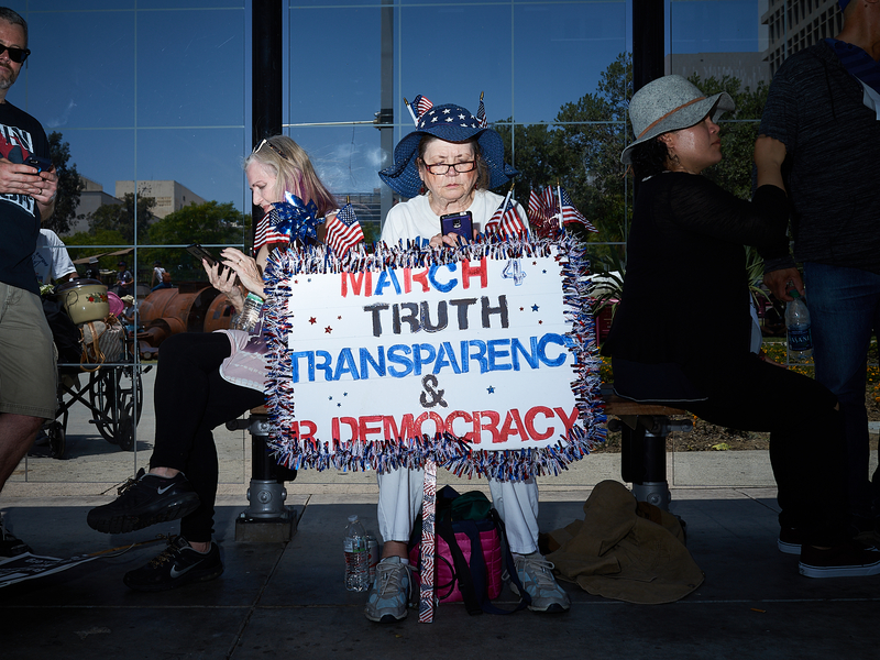 March Truth Transparency and Democracy by Peter Adams.