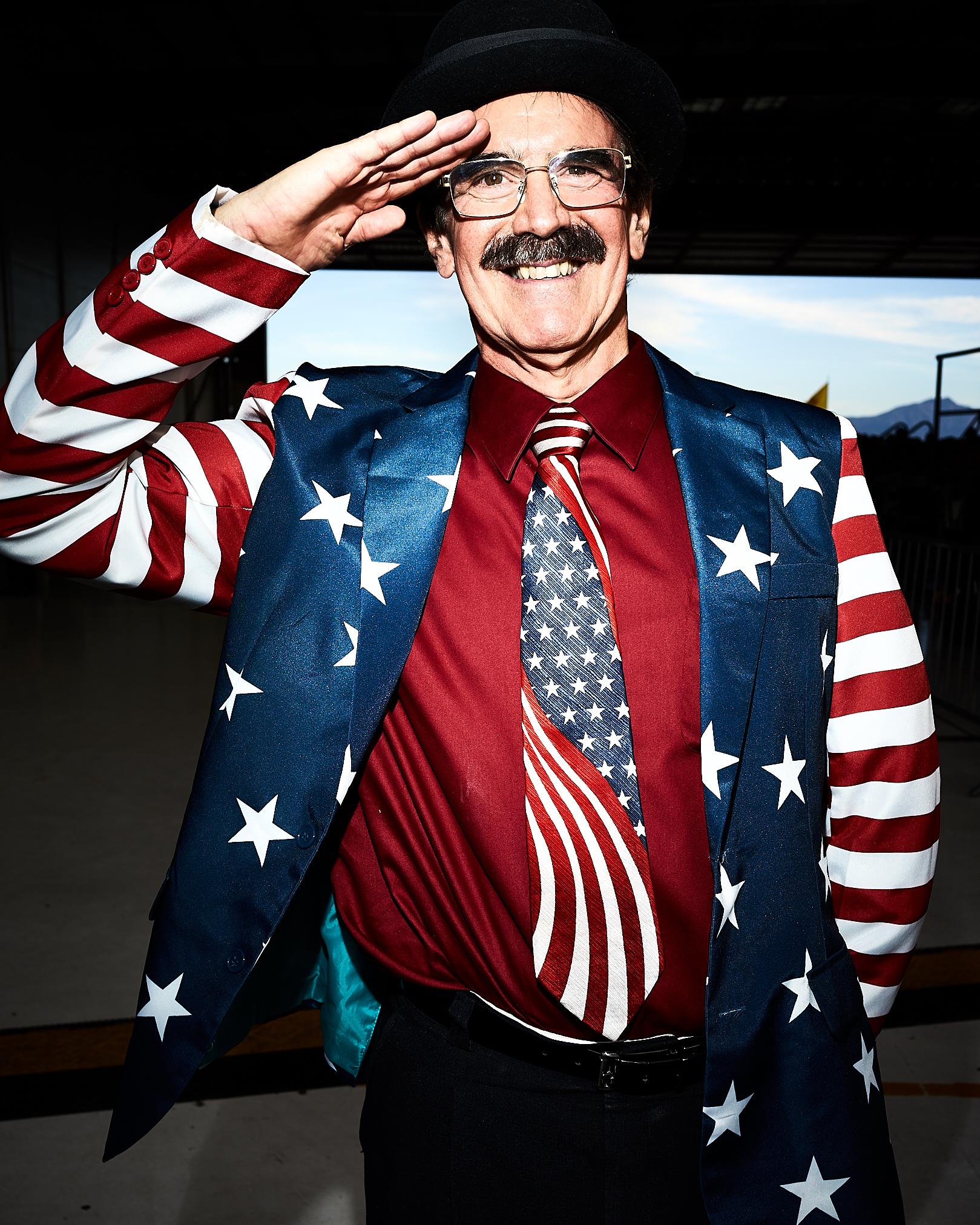 Wearing the American Flag by Peter Adams.