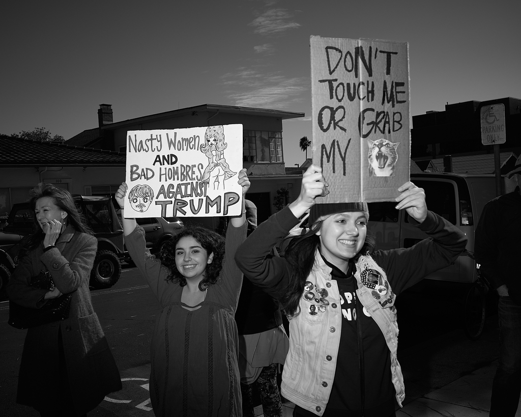 Nasty Women and Bad Hombres Against Trump by Peter Adams.