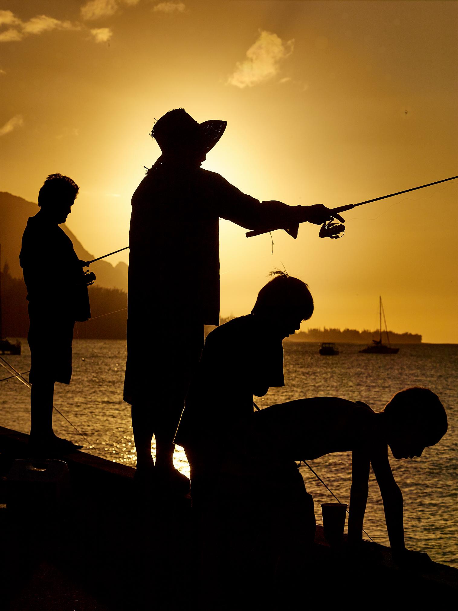 Fishing in Hanalei Hawaii