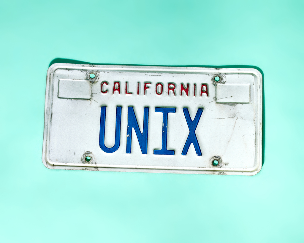 Unix License Plate (California) by Peter Adams.