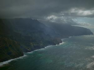 Twilight on Kauai's Napali Coast.