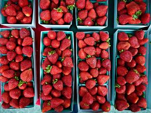 Strawberries by Peter Adams.