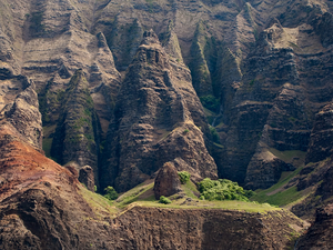Na Pali Spires by Copyright Peter Adams. All Rights reserved..