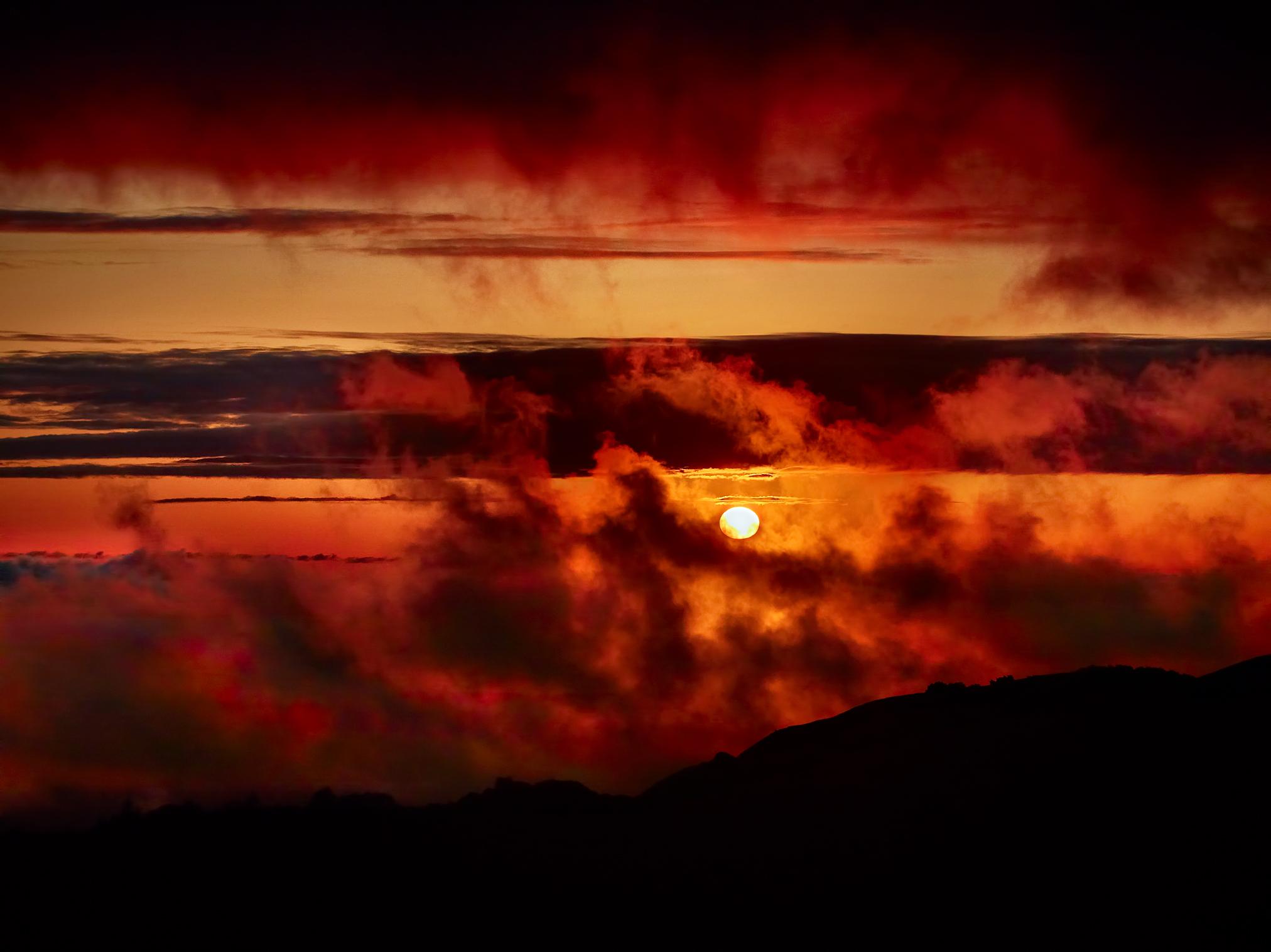 Russian Ridge Fire Sky by Peter Adams.