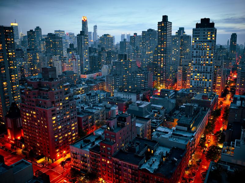 Apartment Buildings by Peter Adams.