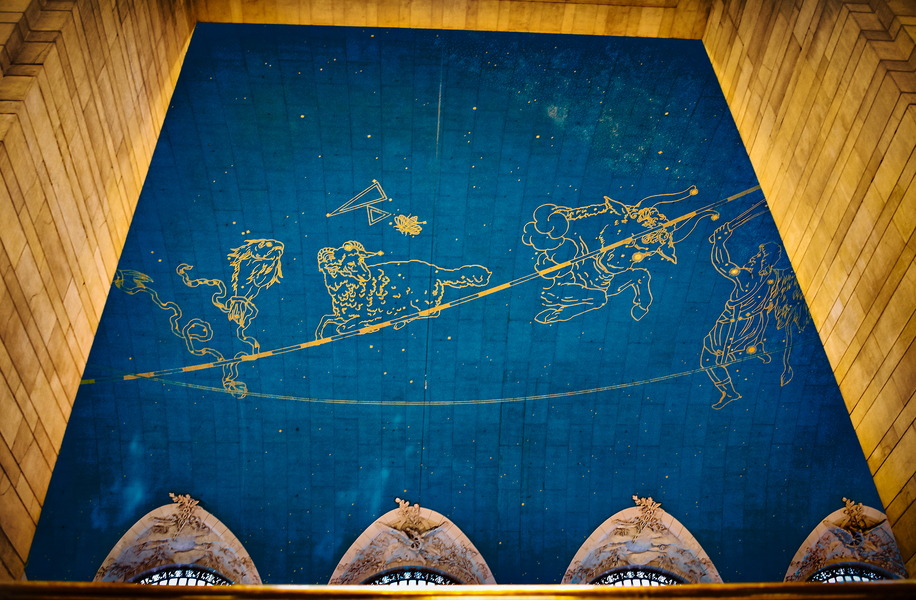 Grand Central Station Ceiling Zodiac by Peter Adams.