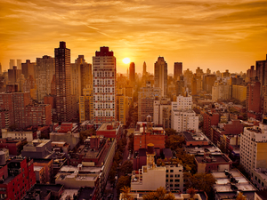 New York Sunset by Peter Adams.