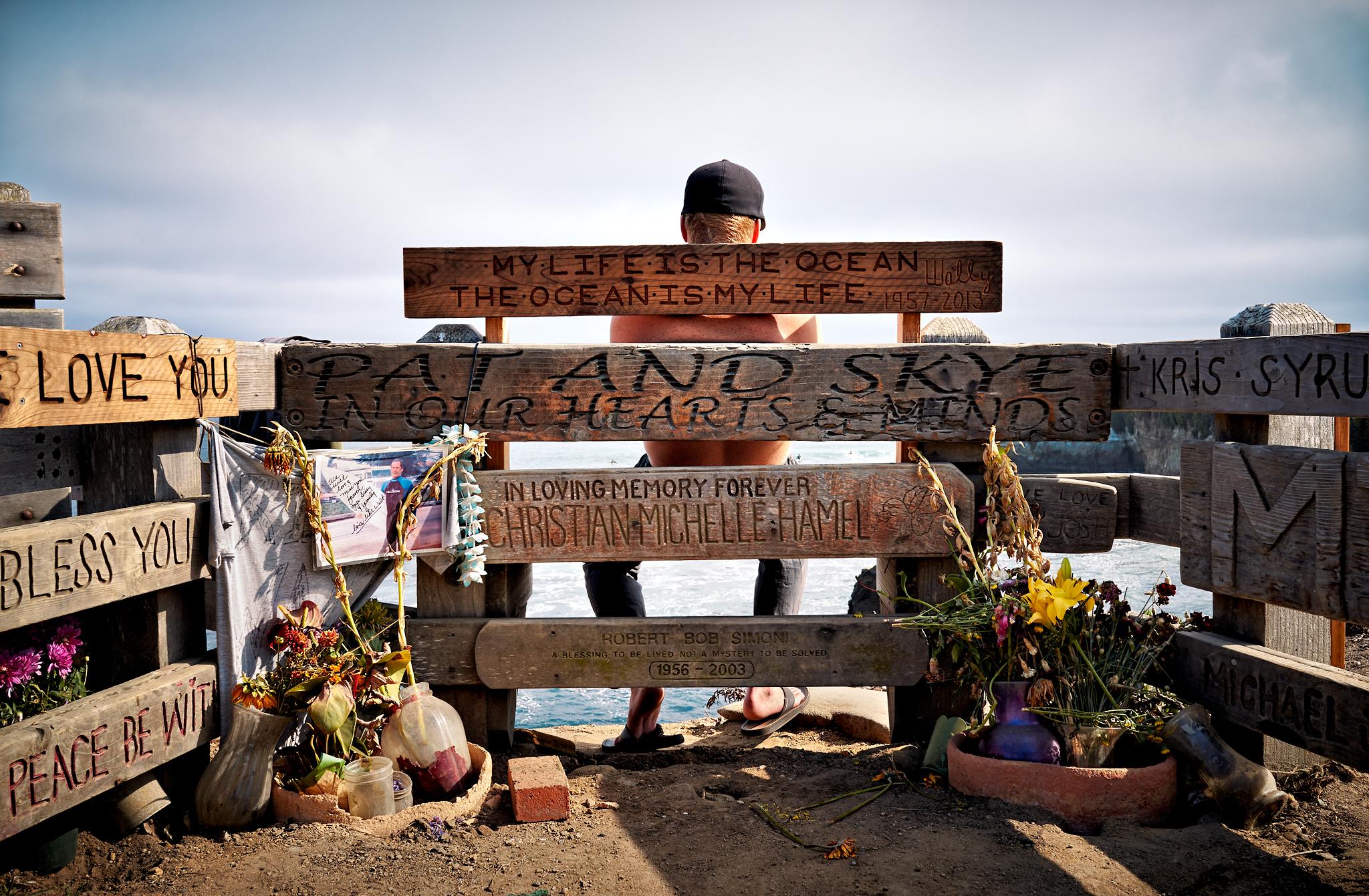 Fallen Surfers Memorial by Peter Adams.