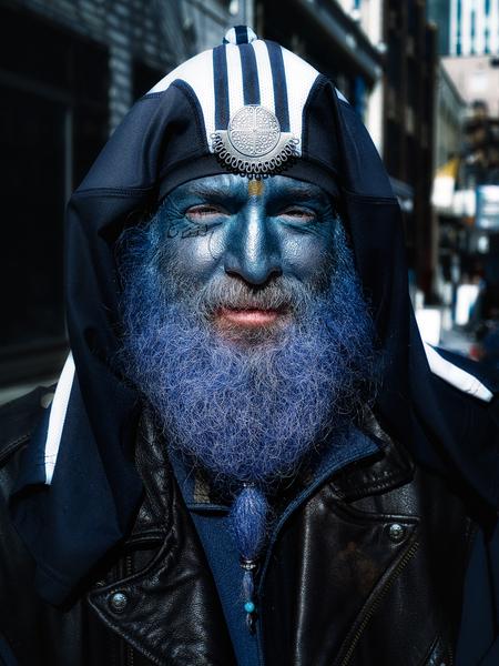 Blue Man by Peter Adams.