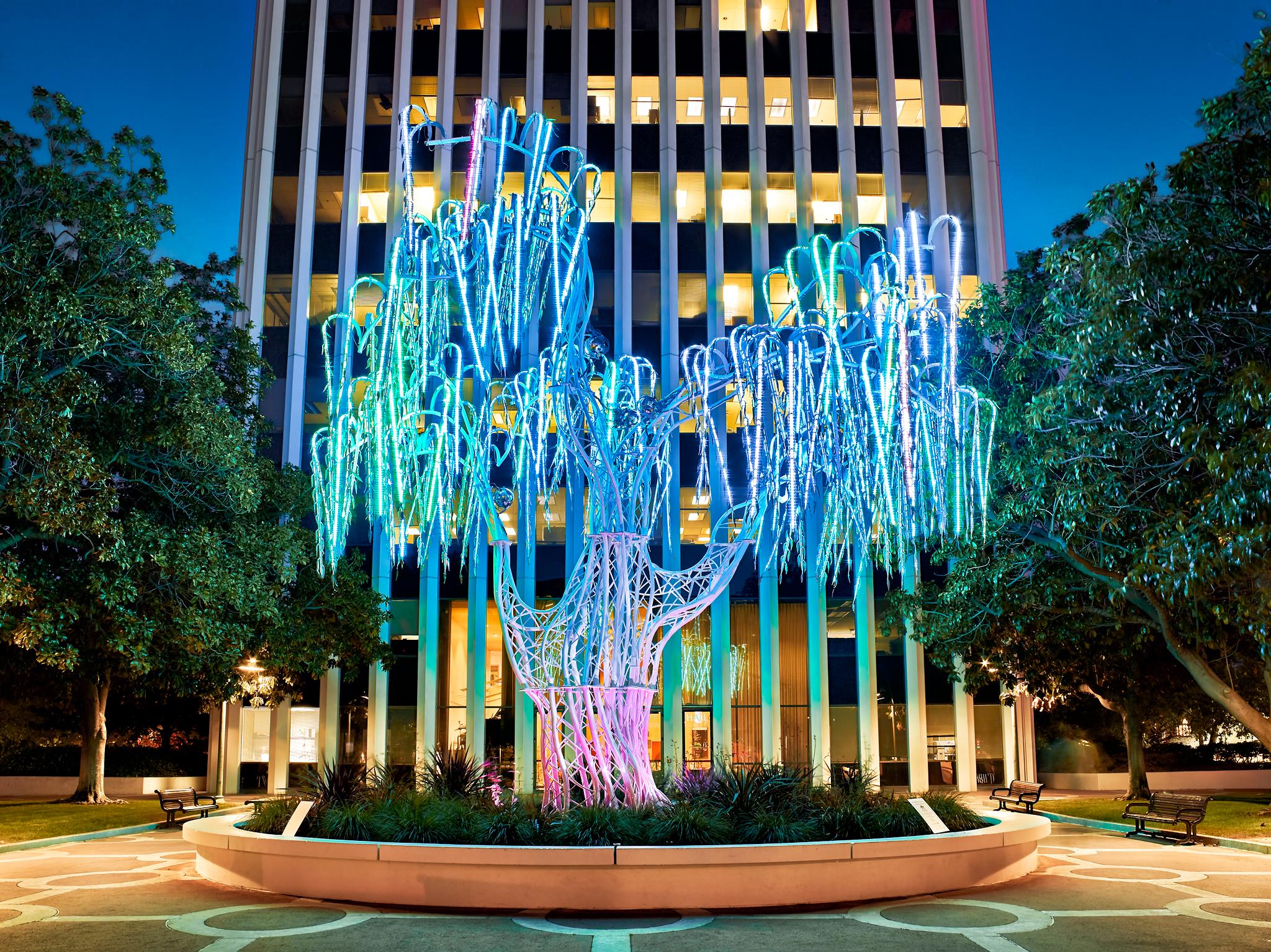 Aurora Light Sculpture by Peter Adams.