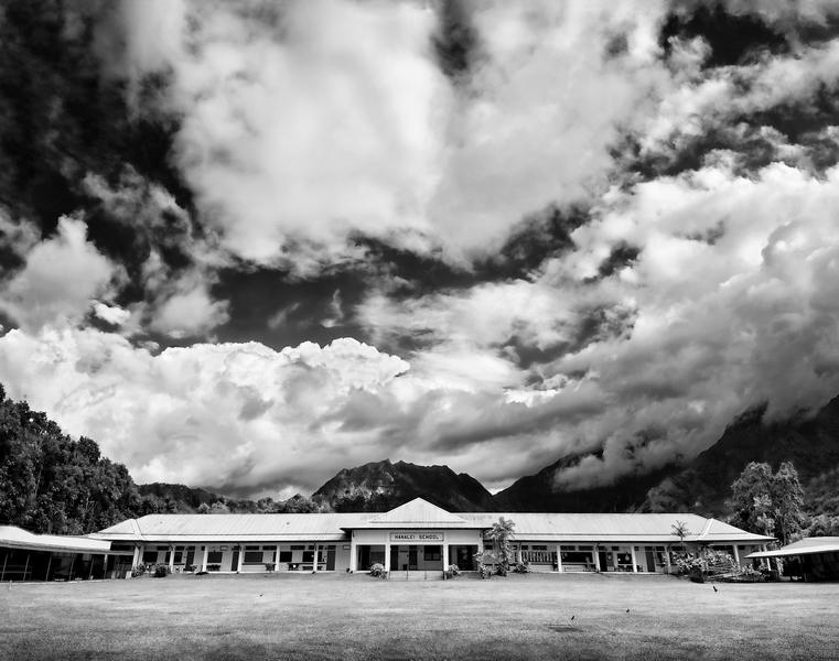 Hanalei School Building by Peter Adams.