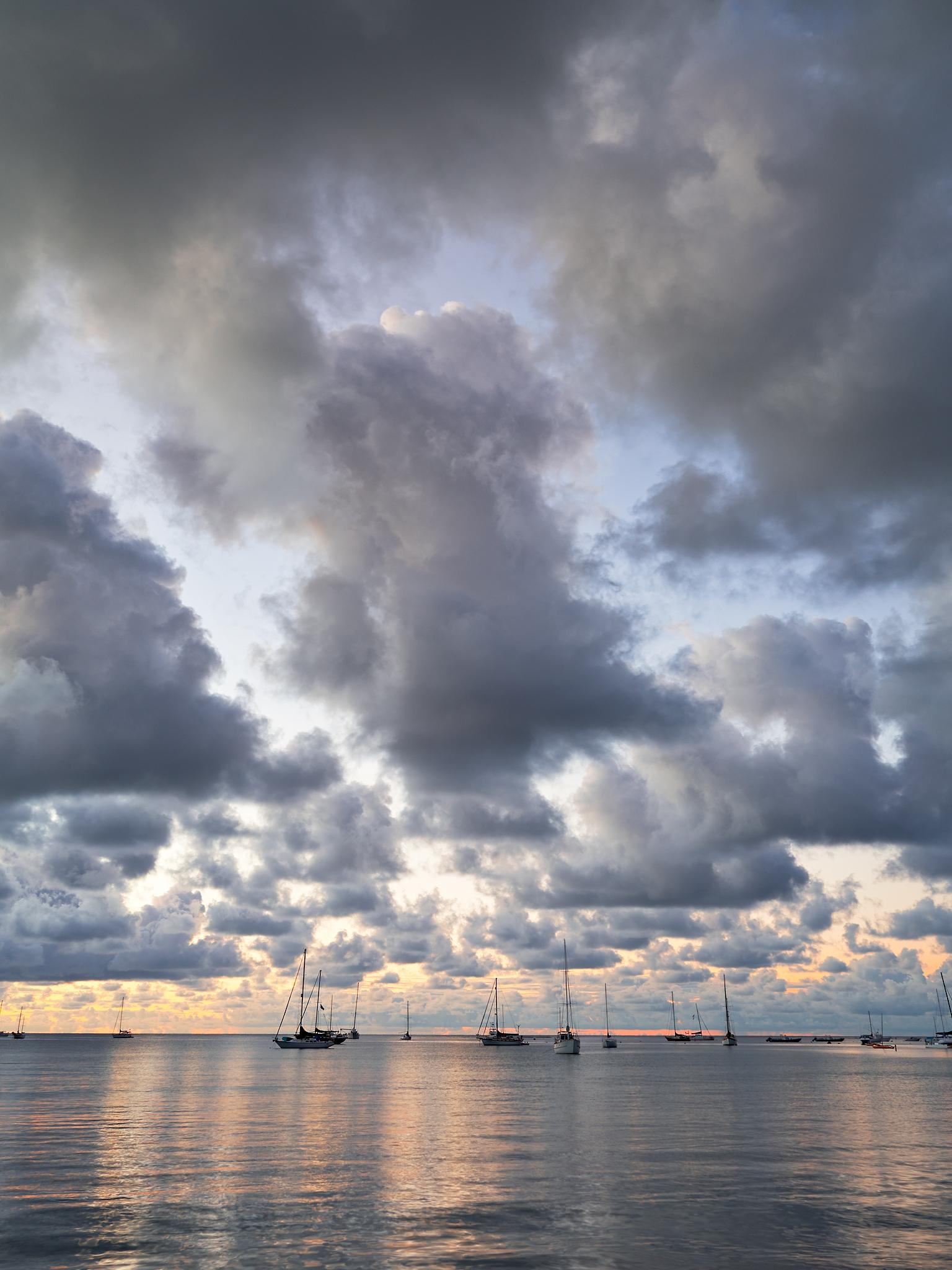 Hanalei Bay Clouds by Peter Adams.