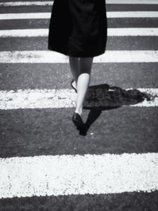 Cross-walking by Peter Adams.