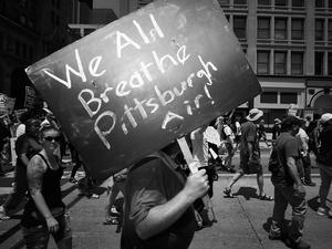 We All Breathe Pittsburgh Air by Peter Adams.