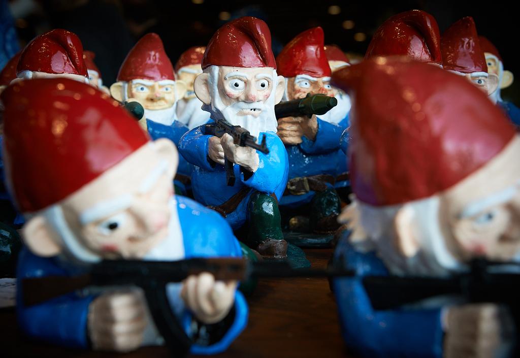 Combat Garden Gnomes by Peter Adams.