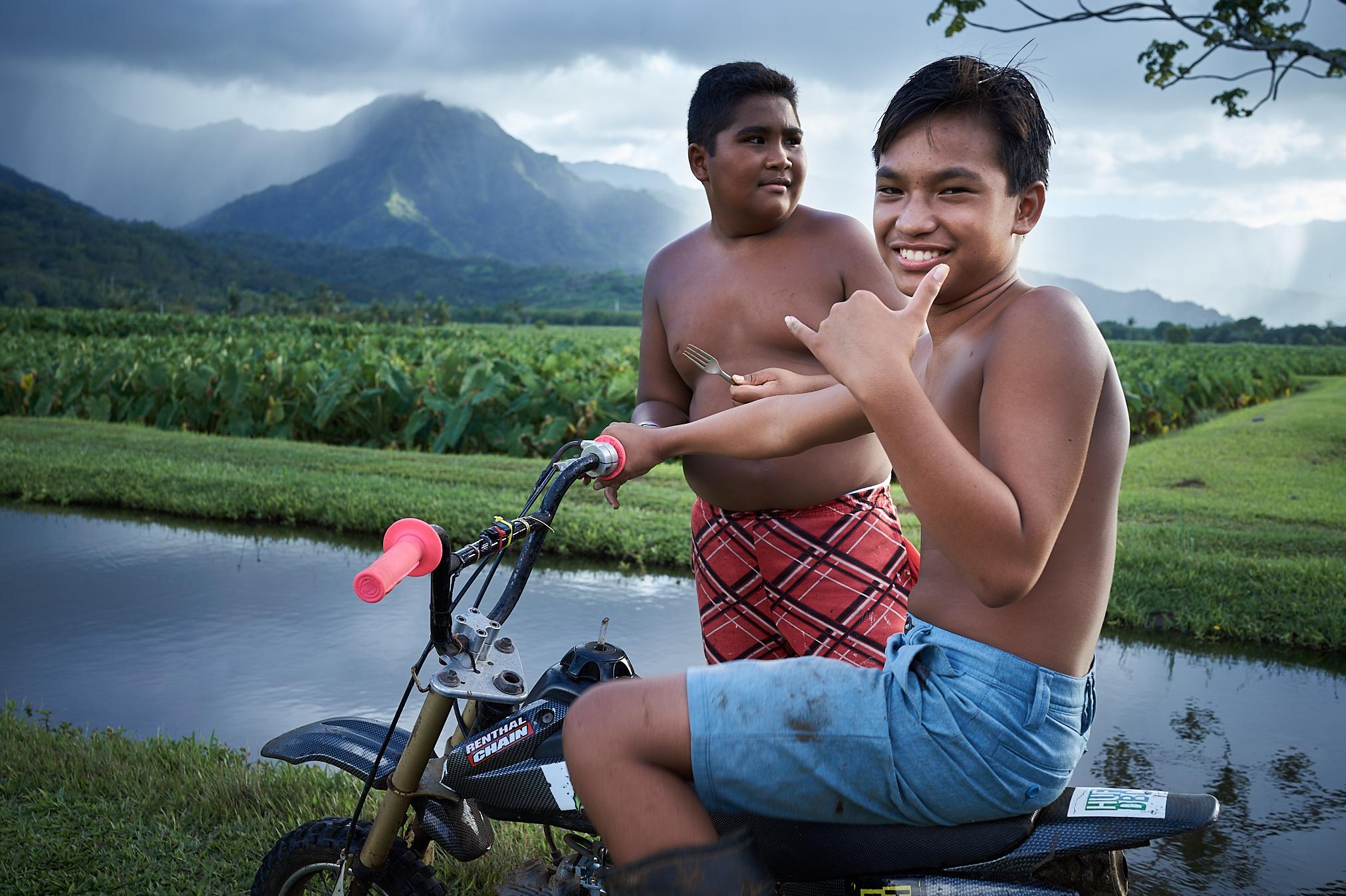 Hanalei Taro Field Kids